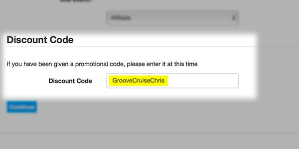 groove cruise discount code step 2