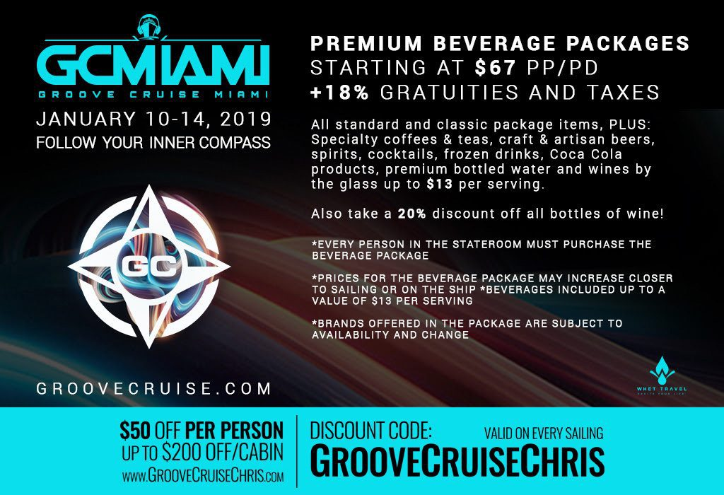groove cruise miami 2019 drink package 1024x700