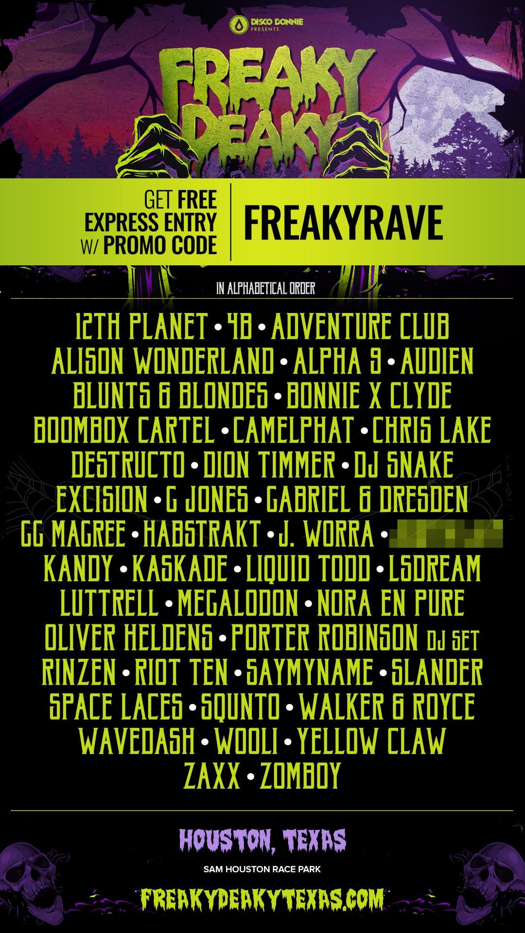 Freaky Deaky Festival 2020.Freaky Deaky 2018 Lineup Groove Cruise Chris