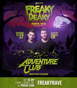 Adventure Club Freaky Deaky 2018 lineup 263x300