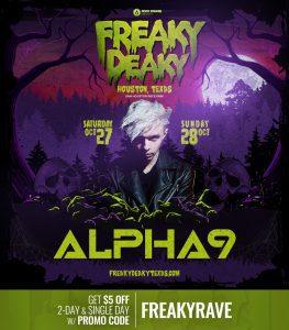 Alpha 9 Freaky Deaky 2018 lineup 263x300