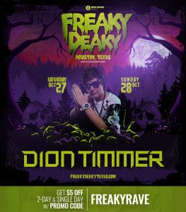 DionTimmer Freaky Deaky 2018 lineup 263x300