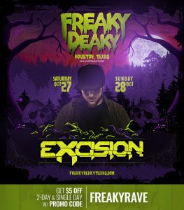 Excision Freaky Deaky 2018 lineup 263x300