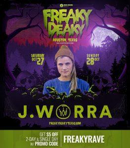 JWorra Freaky Deaky 2018 lineup 263x300