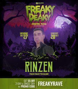 Rinzen Freaky Deaky 2018 lineup 263x300
