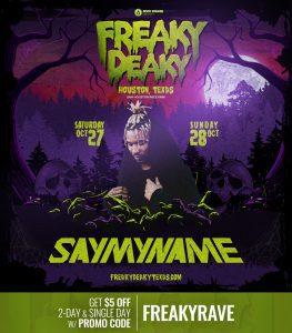 SayMyName Freaky Deaky 2018 lineup 263x300