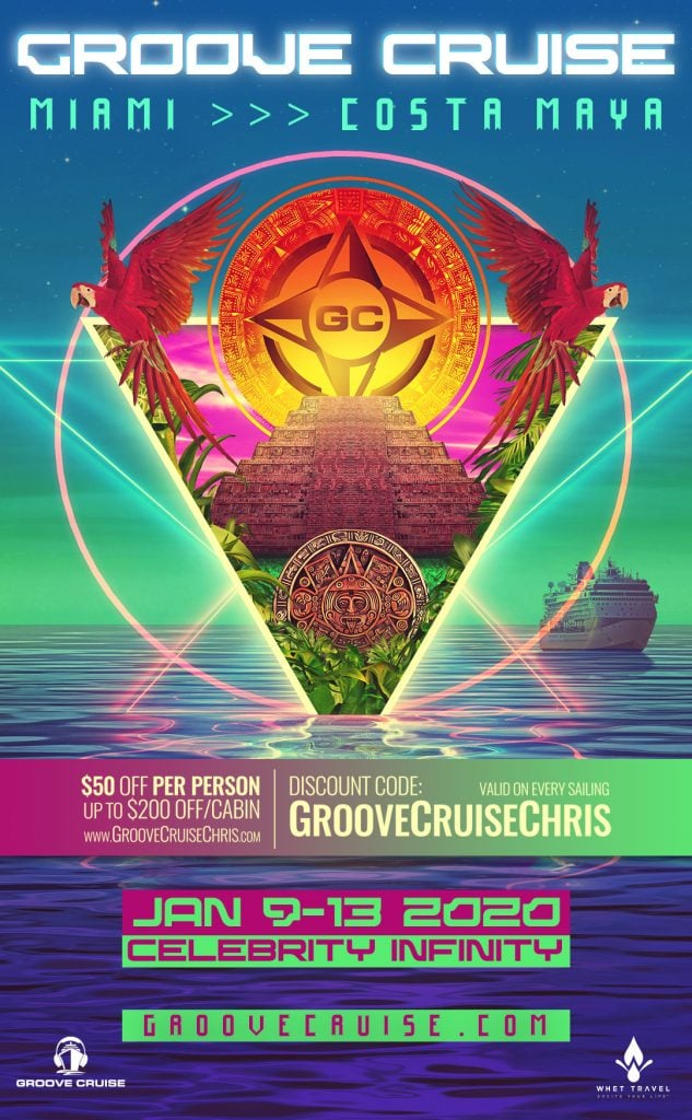 Groove Cruise Miami 2020 flyer 3 633x1024