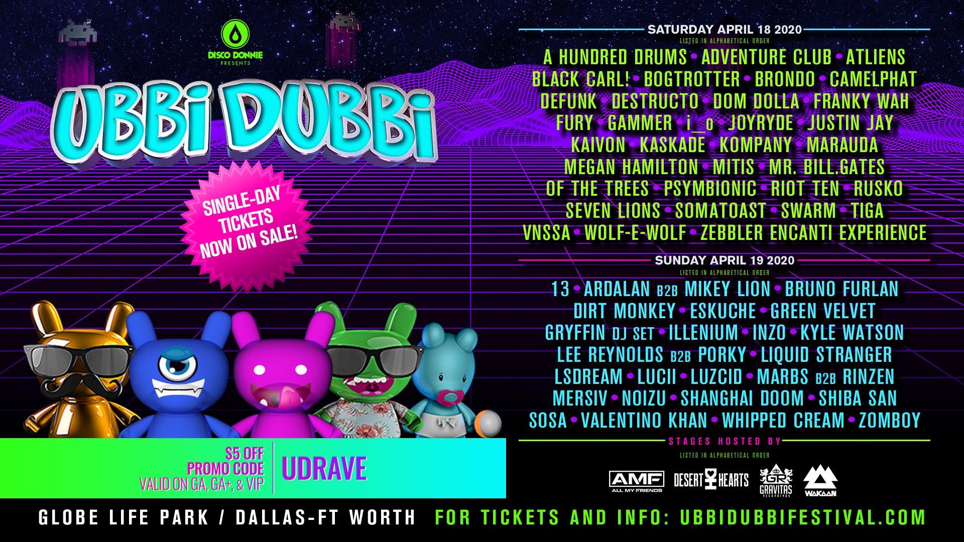 Ubbi Dubbi 2020 lineup | Groove Cruise Chris
